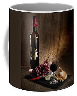 Wine Cheese Grapes Coffee Mug