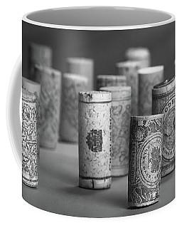 Wine Cork Panorama In Black And White Coffee Mug