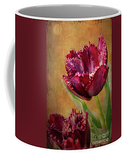 Wine Dark Tulips From My Garden Coffee Mug