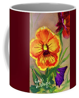 Wine Flash Pansies  Coffee Mug