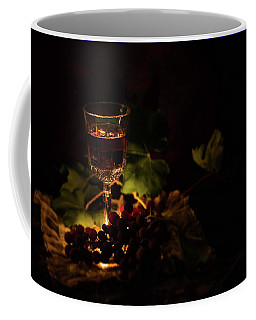 Wine Glass And Grapes Coffee Mug