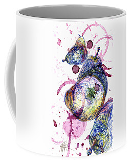 Coffee Mug featuring the painting Wine Pearing by Ashley Kujan