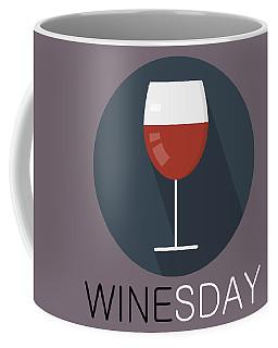 Wine Poster Print - It's Winesday Coffee Mug