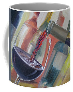 Coffee Mug featuring the painting Wine Pour by Donna Tuten