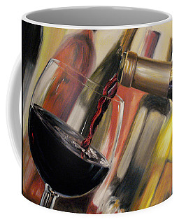 Coffee Mug featuring the painting Wine Pour II by Donna Tuten