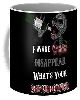 Wine Superpower Skeleton Fantasy Art Coffee Mug