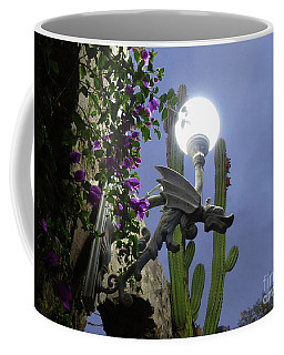 Coffee Mug featuring the photograph Winged Gargoyle In El Fuerte by Rosanne Licciardi