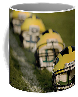 Winged Helmets On Yard Line Coffee Mug