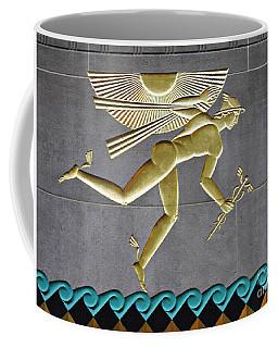 Coffee Mug featuring the photograph Winged Mercury by Sarah Loft