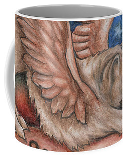 Winged Wolf In Downward Dog Yoga Pose Coffee Mug
