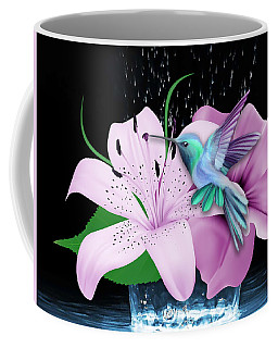 Coffee Mug featuring the mixed media Winging It Hummingbird by Marvin Blaine