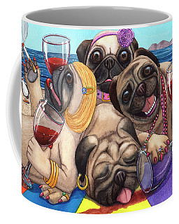 Wining Pile Of Pugs Coffee Mug