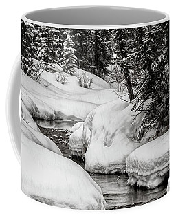 Winter Alpine Creek Coffee Mug