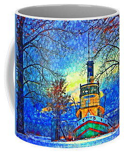 Winter And The Tug Boat 2 Coffee Mug by Tara Turner