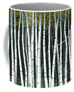 Winter Aspen 3 Coffee Mug by Michael Swanson