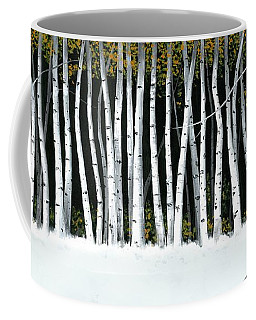 Winter Aspens II Coffee Mug by Michael Swanson