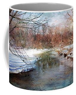 Winter At Cooper River Coffee Mug by John Rivera