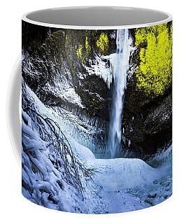 Winter At Latourell Falls Coffee Mug