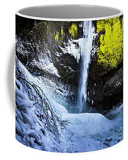 Winter At Latourell Falls Coffee Mug