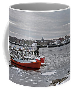 Winter At Newburyport Harbor Coffee Mug