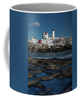 Winter At Nubble Lighthouse Coffee Mug