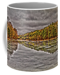 Winter At Pine Lake Coffee Mug
