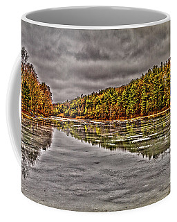 Coffee Mug featuring the photograph Winter At Pine Lake by William Norton