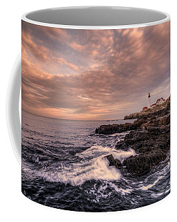 Winter At Portland Head Light Coffee Mug