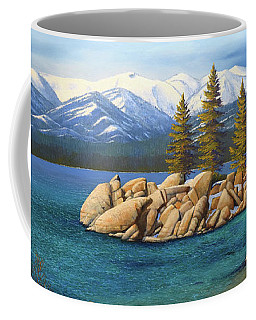 Winter At Sand Harbor Lake Tahoe Coffee Mug