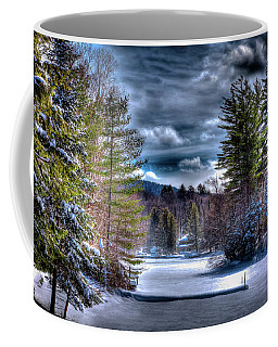 Coffee Mug featuring the photograph Winter At The Boathouse by David Patterson