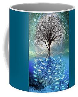 Coffee Mug featuring the digital art Winter At The Reef by Debra and Dave Vanderlaan