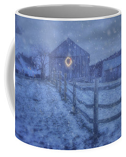 Winter Barn In Snow - Vermont Coffee Mug by Joann Vitali