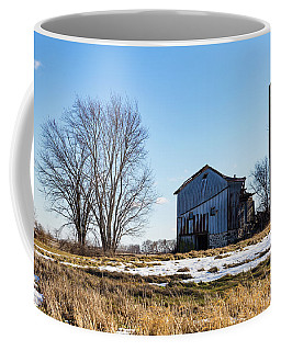 Coffee Mug featuring the photograph Winter Barn by Kathleen Scanlan