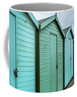 Winter Beach Huts IIi Coffee Mug