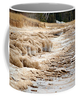 Coffee Mug featuring the photograph Winter Beach by SimplyCMB