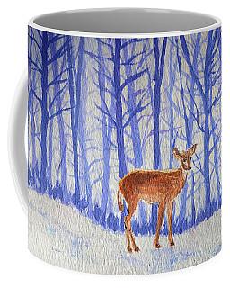 Coffee Mug featuring the painting Winter Begins by Li Newton