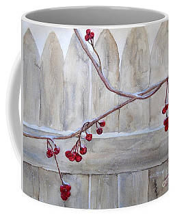 Winter Berries Watercolor Coffee Mug