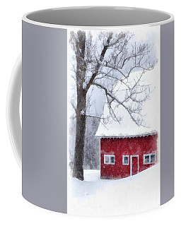 Winter Blanket Of Snow On The Farm Coffee Mug