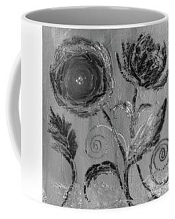 Coffee Mug featuring the digital art Winter Blooms IIi by Robin Maria Pedrero