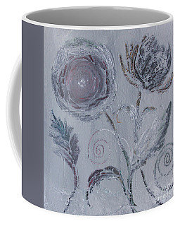 Coffee Mug featuring the painting Winter Blooms by Robin Maria Pedrero