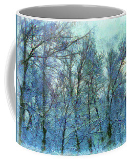 Winter Blue Forest Coffee Mug