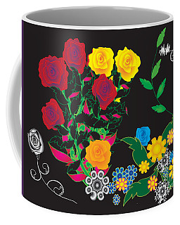 Coffee Mug featuring the digital art Winter Bouquet by Kim Prowse