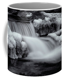 Winter Brook In Black And White Coffee Mug by Tom Singleton