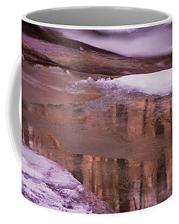 Coffee Mug featuring the photograph Winter Brook Reflections by Tom Singleton