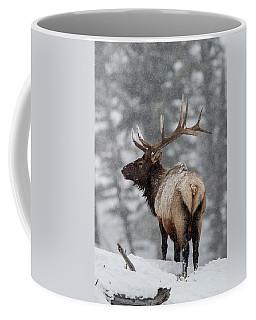 Winter Bull Elk Coffee Mug