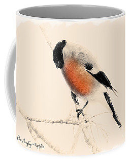 Winter Bullfinch Coffee Mug