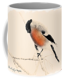 Winter Bullfinch Coffee Mug
