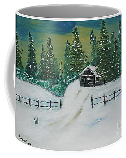 Winter Cabin Coffee Mug