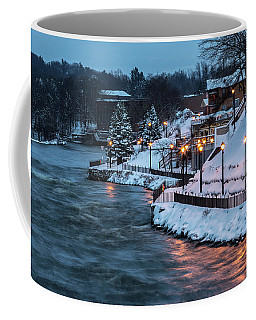 Coffee Mug featuring the photograph Winter Canal Walk by Everet Regal