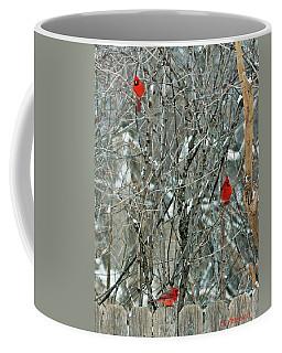 Winter Cardinals Coffee Mug